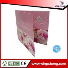 High End Wedding Invitation Card With Electronic Material