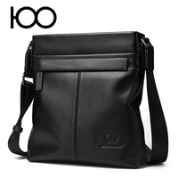 mens genuine leather business shoulder bag factory