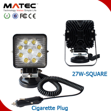 Car Accessories 27w Magnet Driving Led Work Light 4x4
