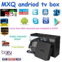 2015 Original New MXQ Android TV BOX Amlogic S805 Quad Core IPTV Android 4.4 Kitkat with KODI ,mxq tv box sex xxl android live t