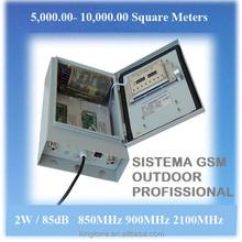 Telefone celular sinal de Repetidor Amplificador 2W GSM 850mhz,85 dB - Kingtone