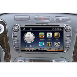 """7"""" Car DVD Player Bluetooth GPS Navigation Car Video Radio 2 Din PC Stereo Head Unit for Ford Mondeo S-max Galaxy"""