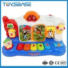 Mejor regalo del bebé, multifunción de dibujos animados juguetes de los niños teclado electrónico música de órgano