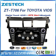 ZESTECH OEM 7 inch 2 din car dvd player with gps touch screen car audio gps for toyota VIOS 2009-2013 with BT+DVD+RADIO+SWC