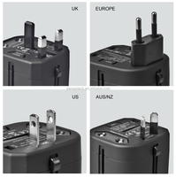 universal used international AC adapter with 2-usb port smart charger
