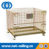Warehouse stackable wire mesh storage container