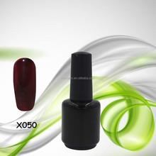 2015 Salon Professional Long Lasting Shining nail Gel colors X050 uv gel polish