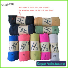 Professional factory hot selling cotton scarf, long plain color scarf, shawl scarf