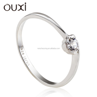 OUXI 2015 hot sale Simple value 925 925 sun silver ring Y70032
