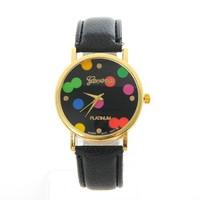 Fashion stainless steel watch case 316l hand charm watch pu strap own brand wach for unisex