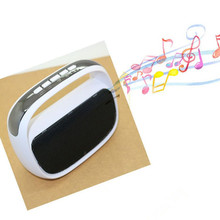 Bag shape portable mini bluetoothTF card speaker with FM radio suitable for old ages