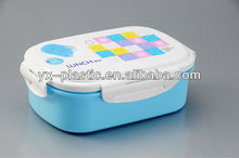 Rectangle Plastic Lunch Box With 2 removable Divisions 4 side locks