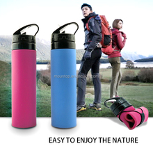 600ml foldable water bottle BPA free sports drink bottle / kids water bottle
