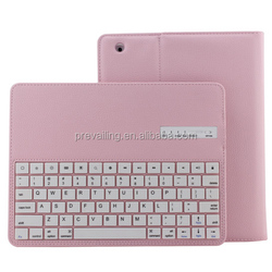 2-in-1 ABS bluetooth keyboard with removable leatherette case for iPad 2/3/4 use