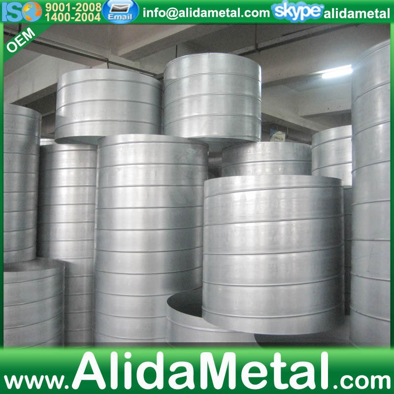 Stainless steel duct for ventilation air