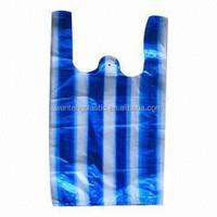 SHANDONG FACTORY STRIPE T-SHIRT BAGS /SHOPPING BAG