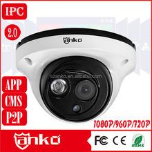1.0mp resolution cheap cmos sensor 1080p dome ip camera