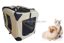 Traveling dog soft crate Foldable soft sided pet carrier dog cat crate comfort travel dog cage