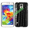 Crocodile Texture Leather Coated Hard PC Case For Samsung Galaxy S5/i9600