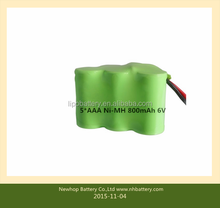 Factory price ! 800mAh rechargeable nimh 6v battery