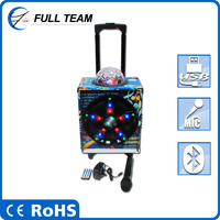 Durable pa system indoor stage concert DJ disco light speaker with trolley