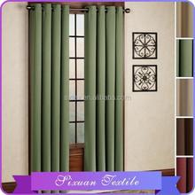 100% poliéster ecológico cortina Blackout dos aburrida cortina