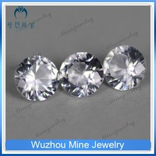 round shape brilliant cut 5.0mm white corundum wholesale