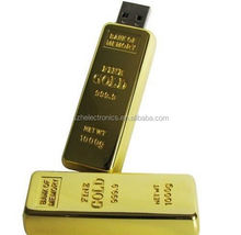 Wholesale Freesample Highspeed usb flash drive gold bar for Promotional gifts