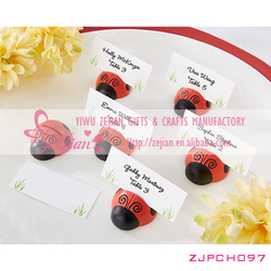 """Resin """"Cute as a Bug"""" Ladybug Place Card/Photo Holder Favors For Wedding Bridal Decoration Favors"""
