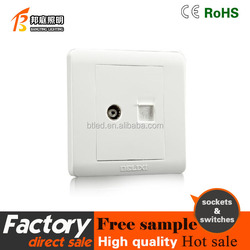 Electrical wall Switch TV and telphone socket
