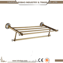 2015 special antique bronze brass sanitary ware accessories golden rose gold archaise single towel bar holder robe hook