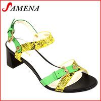 Women sandal shoes ladies chunky heel shoes