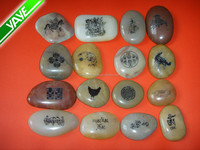 """1-2"""" Engraved Mixed Color River Rocks Wish Stones"""