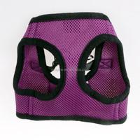 Black Purple Mesh Design Pet Puppy Walking Adjustable Harness Vest
