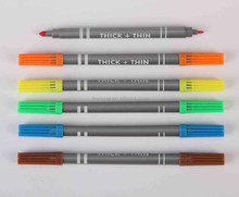 two tip water based multi color pen