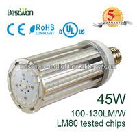 45w 4700lm 360 degree UL avaliable e40 e27 Bollard LED retrofit
