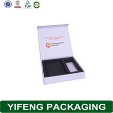 White folding paper packaging box design new brand cosmetic gift box