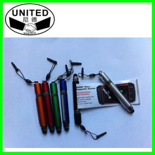 Novelty finger hand flag pen with touch and led light
