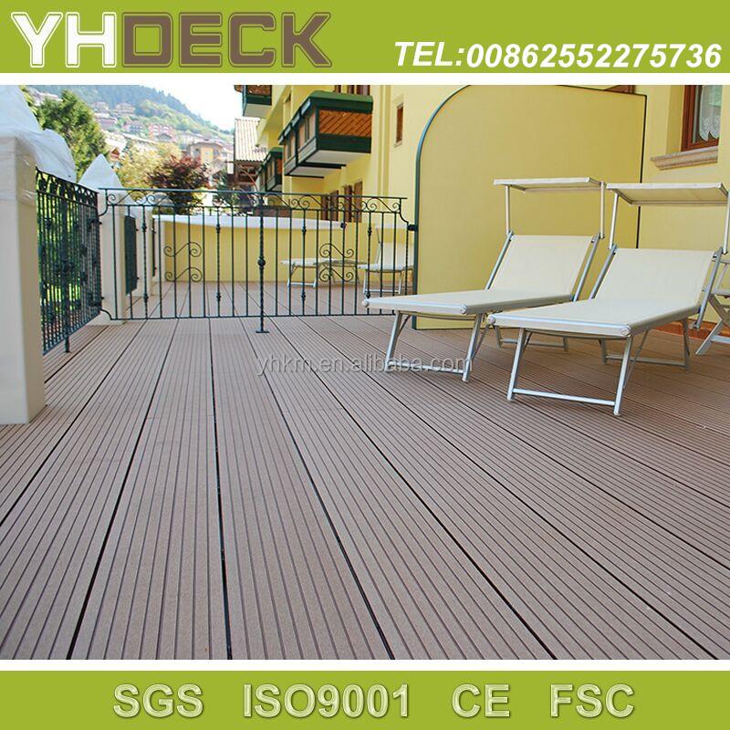 Anti slip cheap price wpc outdoor swimming pool flooring for Non slip composite decking