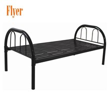 Hot Sale Knock Down Good design Steel Pipe Single Bed for School