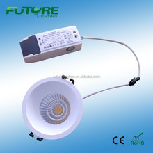 9w cob recessed downlight led torsion spring for led downlight