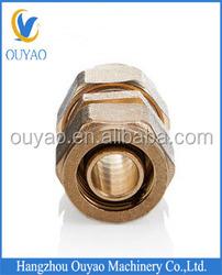 pipe fitting union, brass union,male/female brass threaded union for PEX/AL/PEX composite pipe