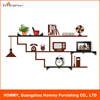 New products diy fashion design wall shelf, hot sale wall sticker shelves for home decor