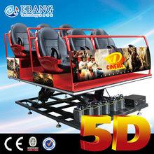Roller coaster simulator used 5d cinema equipment for sale