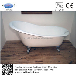 children small sizes bathtub,slipper ball foot enamelled iron bath tub