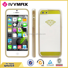 Transparent mobile phone case for iphone 5 ultra thin bumper case