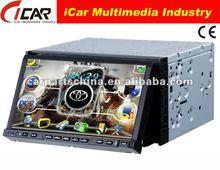 NEW/HOT Double Din 7'' touch screen,GPS, Bluetooth, TV, PIP, IPod, 3D UI 7 inch red power car dvd