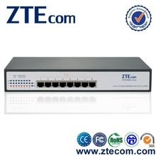 ZTEcom Excellent Power Saving 8 port Gigabit Smart Switch PoE with RoHS