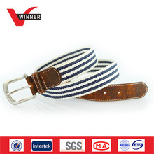 Genuine Leather tap Woven Casual Men Belts
