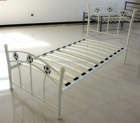 Cheap power coating single bed metal bed used bedroom furniture for sale